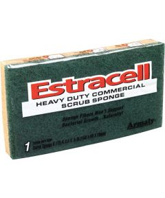 6.125 in. x 3.5 in. x .8 in. Large Estracell Heavy-Duty Scrub Sponge
