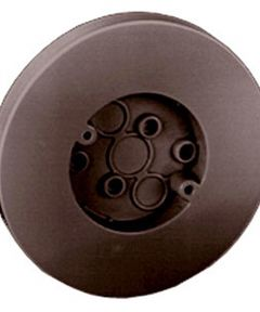 6-1/2 in. Brown Round Box With Flat Screw