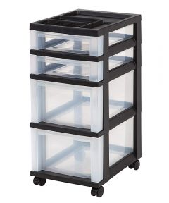 4-DRAWER CART W/ ORGANIZER TOP