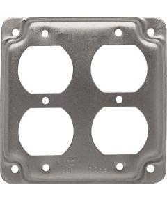 4 in. Square 2 Duplex Receptacles
