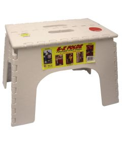 12 in. White EZ Folds Folding Step Stool