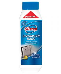 Glisten Dishwasher Magic Dish Washing Cleaner and Disinfectant, 12 oz., Clear, Liquid