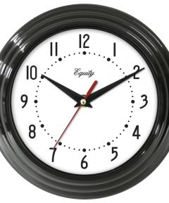 8 in. Black Frame Quartz Wall Clock