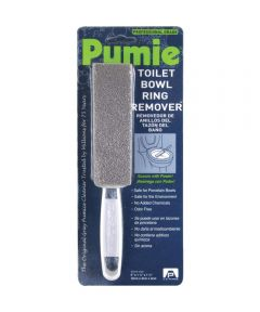 Pumie Professional Grade Toilet Bowl Ring Remover Scouring Stick with Handle