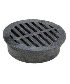 4 in. Round Grate, Black