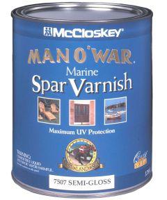 1 Quart Semi-Gloss Man O ft. War Marine Spar Varnish
