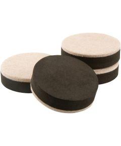 2-1/2 in. Oatmeal Felt Bottom Furniture Sliders 4 Count