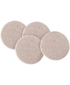 3 in. Oatmeal Round Self-Stick Felt Pads 4 Count