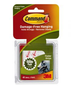 Small Command Poster Strips Value Pack 48 Count