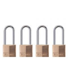 1-9/16 in. Solid Brass Body Padlock With 2 in. Shackle 4 Pack