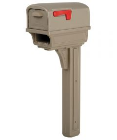 Mocha All-In-One Mailbox & Post