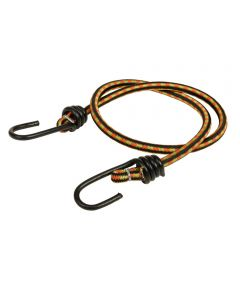 30 in. Orange/Black Bungee Cord With Coated Hooks