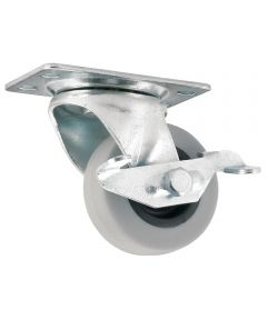 2 in. Rubber Swivel Caster With Brake