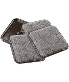 2-1/2 in. Gray Square Caster Cups 4 Count