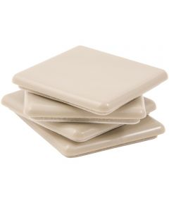 2-1/2 in. Beige Square Self-Stick SuperSliders 4 Count