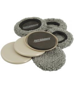 5 in. Biege Reusable SuperSliders With Socks 4 Count