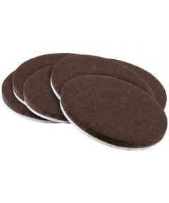 2 in. Brown Round Self-Stick Felt Pads 6 Count