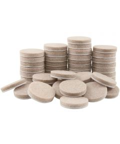 1 in. Oatmeal Round Self-Stick Felt Pads, 48 Count
