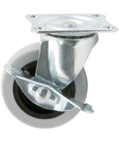 3 in. Rubber Swivel Caster With Brake