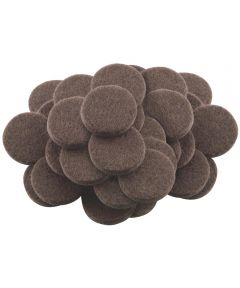 1 in. Brown Round Self-Stick Felt Pads 48 Count