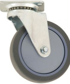 5 in. Grey Rubber Swivel Caster