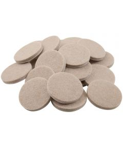 1-1/2 in. Oatmeal Round Self-Stick Felt Pads 24 Count