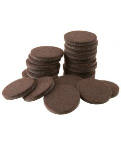 1-1/2 in. Brown Round Self-Stick Felt Pads 24 Count