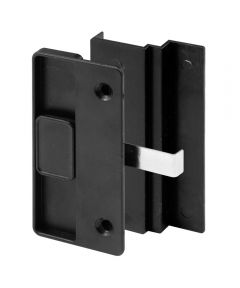 Patio Door Flush Handle with Hook Latch assortment, Black, Night Lock, 1 per pkg.