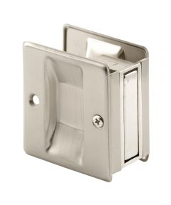 Pocket Door Pull, 2-3/4 inches tall, Satin Nickel, 1 Pack