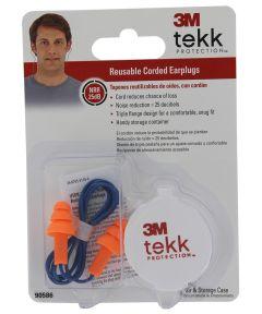 3M Corded Reusable 25 Decibel Earplugs