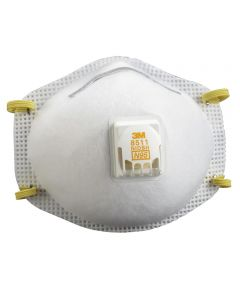 Sanding & Fiberglass N95 Respirator Mask with Cool Flow Valve, 10 Pack