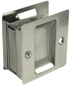 Passage Pocket Door Lock, Satin Nickel
