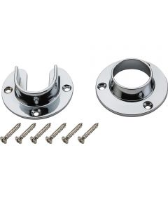 Flange Set Chrome Finish