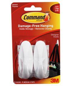 Medium Designer Hooks With Command Adhesive