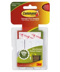 Command Wire Picture Hanging Hooks 3 Count