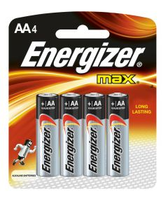 Energizer Max AA Alkaline Battery, 4 Pack