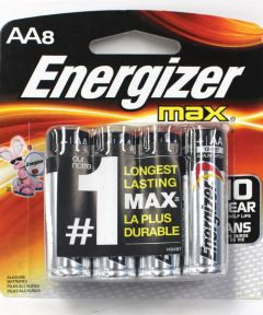 Energizer Max AA Alkaline Battery, 8 Pack