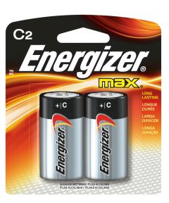 Energizer Max C Alkaline Battery, 2 Pack