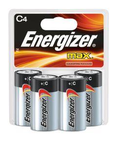 Energizer Max C Alkaline Battery, 4 Pack
