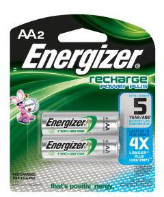 Energizer NiMH AA Rechargeable Battery, 2 Pack