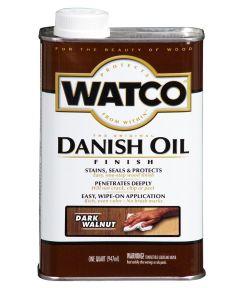 WATCO Danish Oil, Quart, Dark Walnut
