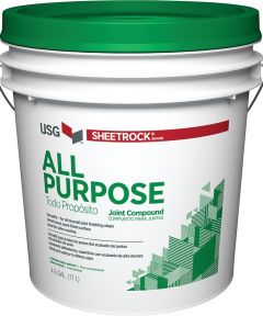 Sheetrock All-Purpose Conventional Weight Ready-Mix Joint Compound, 4.5 gal, Pail, Off-White
