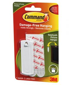 Saw Tooth Picture Hanger With Command Adhesive