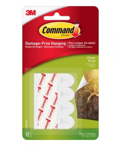 Command Self Adhesive Poster Strips, 12 Strips
