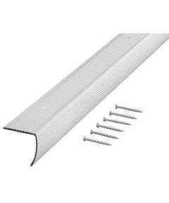 36 in. Silver Fluted Stair Edging