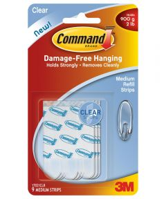 Clear Medium Command Refill Strips 9 Count