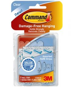 Clear Assorted Refill Strips 16 Count