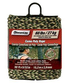 5/32 in. x 50 ft. Camo Polypropylene Braid Rope