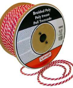 5/8 in. Red & White Polypropylene Solid Braid (Sold Per Foot)