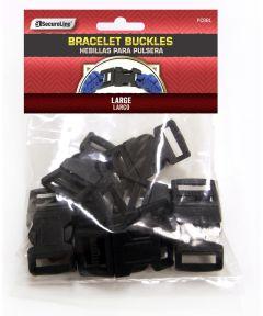 Large Black Paracord Bracelet Buckle 8 Count